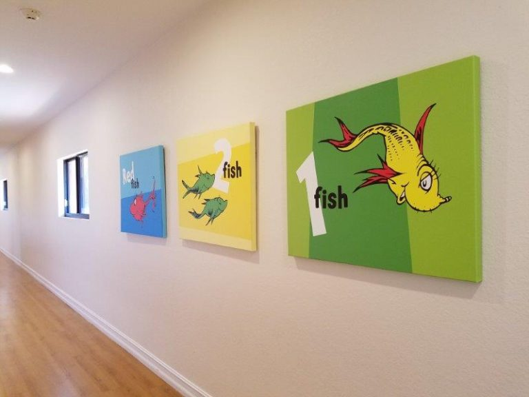 kids world preschool wall paintings