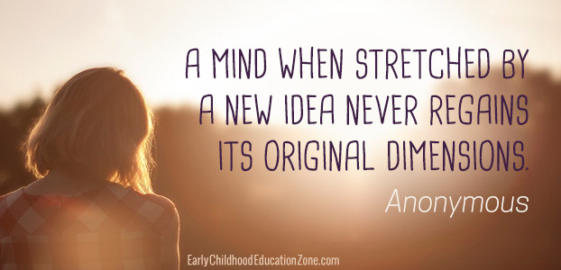 A mind when stretched by a new idea never regains its original dimension quote