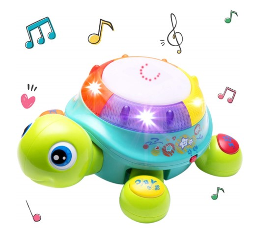 Musical Turtle Toy - english spanish biligual